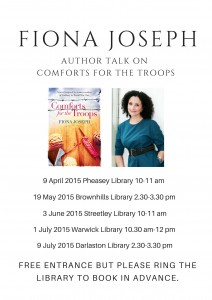 Fiona Joseph Library tour dates 2015